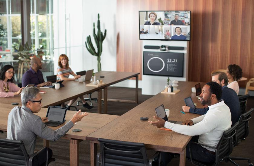Giải pháp cho phòng họp lớn online từ xa